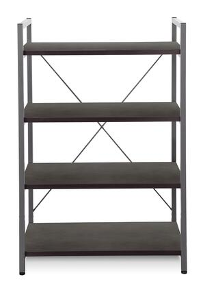 Unique Furniture 213ESP 200 Series Wood and Metal 3-4 Shelves Bookcase