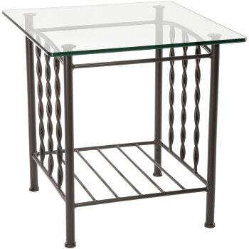 Stone County Ironworks 901165GLS  End Table