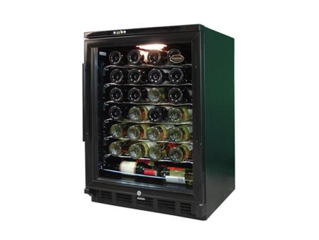"Vinotemp VTWC58GNVB 24"" Built In/Freestanding Wine Cooler"