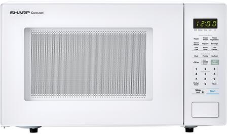 "Sharp SMC1441Cx Countertop Microwave with 1.4 cu. ft. Capacity, 1000 Watts, 12.75"" Carousel Turntable, Express Cook, Sensor Cook and Auto Defrost, in"
