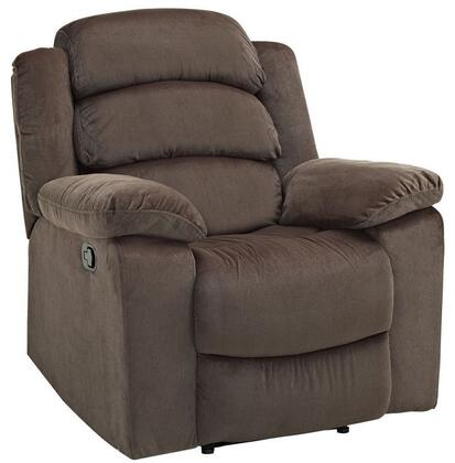 "New Classic Home Furnishings 20-334-13- Miranda 82"" Manual Recliner with Polyester Fabric, Hardwood Frame, Eco Friendly Recycled Foam, Sinuous Spring ""No Sag"" Deck and 300 lbs. Capacity, in"
