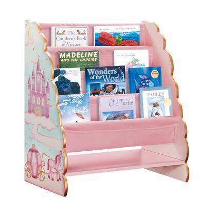 Guidecraft G86300 Princess Series Wood 4 Shelves Bookcase