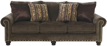 "Jackson Furniture Avery Collection 3261-03- 96"" Sofa with Nail Head Accents, Rolled Arms and Chenille Fabric Upholstery in"
