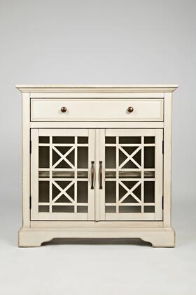 """Jofran Craftsman Collection X75-32 32"""" Accent Cabinet with Two Glass Doors, Drawer and Fixed Shelf in XX"""