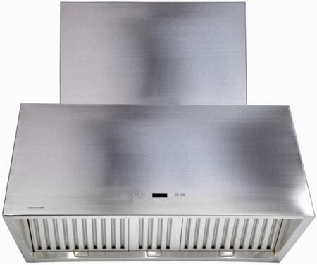 Cavaliere SV218T2 Wall Mount Range Hood With 1200 CFM, 6 Speed Levels, Electronic Button Control Panel, LED Display, Three Stainless Steel Baffle Filters and 30 Hour Cleaning Reminder in Stainless Steel