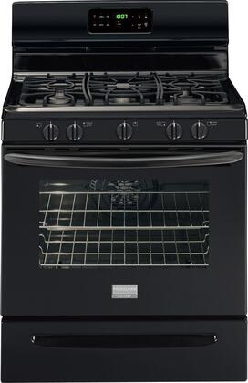 Frigidaire FGGF3032MB N/A Gallery Series Gas Freestanding Range with Sealed Burner Cooktop, 5.0 cu. ft. Primary Oven Capacity, Storage in Black