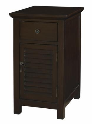 Powell 170219 Freestanding Wood 1 Drawers Cabinet