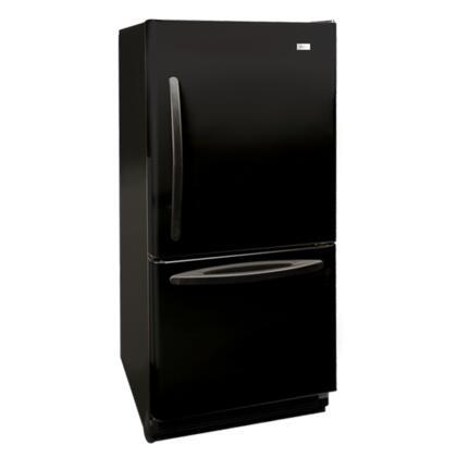 Haier HBQ18JADB  Bottom Freezer Refrigerator with 17.6 cu. ft. Capacity in Black