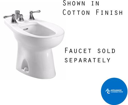Toto BT500B Piedmont Series Four-Hole Bidet with Vitreous China Construction and Integral Overflow