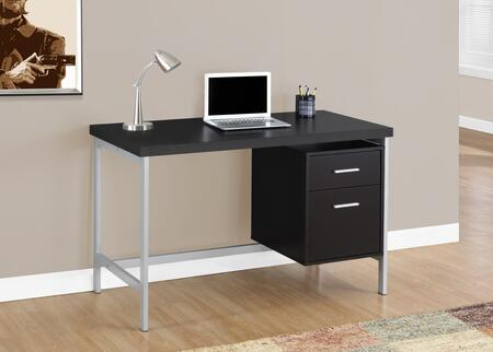 """Monarch I 71X 48"""" Computer Desk with Metal Legs, Ample Surface Space and Two Drawers"""
