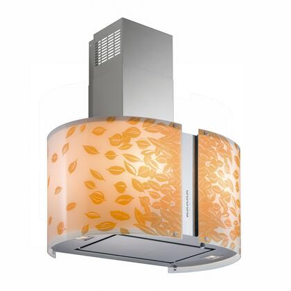 "Futuro Futuro ISXMURAUTUMN X"" Murano Autumn Series Range Hood offer 940 CFM, 4-Speed Electronic Controls, Delayed Shut-Off, Filter Cleaning Reminder, and in Stainless Steel"