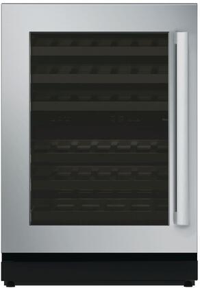 """Thermador T24UW810 24"""" Masterpiece Series Under-Counter Dual Zone Wine Cooler with 41 Bottle Capacity, Glass Door, SoftClose Door Hinges, LED Theatre Lighting, and UV Resistant Glass Door: Stainless Steel"""