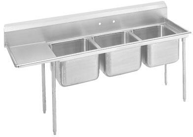 Three Compartment, Left Side Drainboard