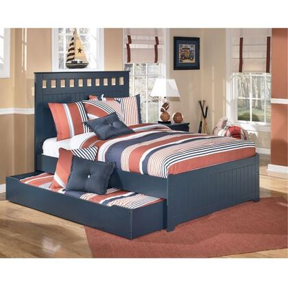 Signature Design by Ashley B103B100 X Size Panel Bed with Trundle: Blue