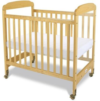 """Foundations Serenity Collection 1742XXX SafeReach Clearview Compact Crib with 3"""" Ultra-Durable Antimicrobial Mattress"""