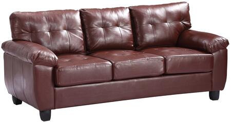 Glory Furniture G900AS  Stationary Faux Leather Sofa