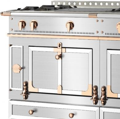 Brushed Stainless Steel Trim and Polished Copper Accent
