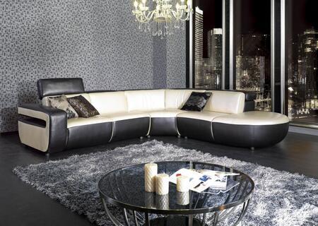 VIG Furniture VGKN8380 Divani Casa Series Sofa and Chaise Sofa