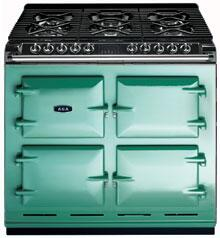 AGA A64NGPIS Six-Four Series Dual Fuel Freestanding Range with Sealed Burner Cooktop, 4.5 cu. ft. Primary Oven Capacity, in Pistachio