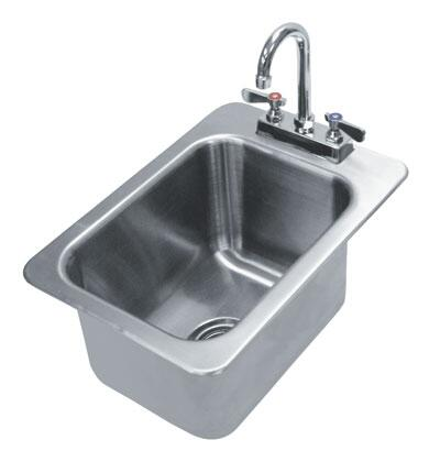 Drop In Sink with Deck Mounted Gooseneck Faucet