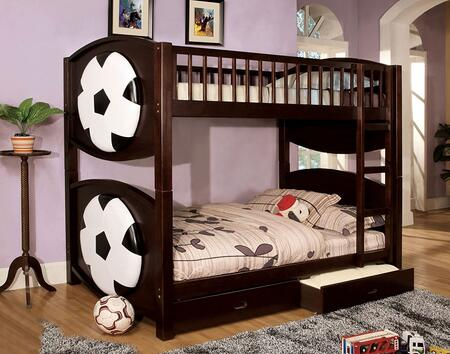 Furniture of America CMBK065SCCRTBED Olympic II Series  Twin Size Bed
