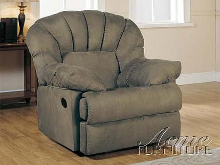 Acme Furniture 15105 Rainer Series Contemporary Microfiber Wood Frame  Recliners