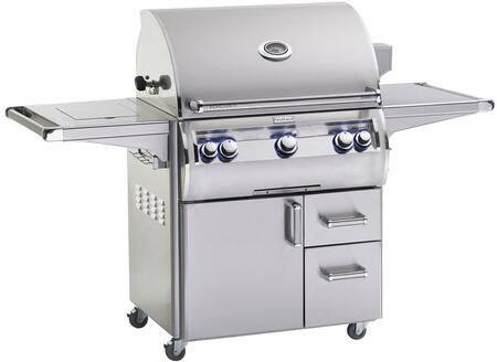 """FireMagic E660S4LAX71W Echelon 93"""" Freestanding Grill with E-Burners, One Infrared Burners, Double Side Burner, and Analog Thermometer, Natural Gas, in Stainless Steel"""