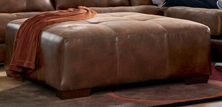 """Jackson Furniture Drummond Collection 4296-28- 51"""" Cocktail Ottoman with Block Feet, Tufted Top and Padded Polyester Fabric in"""