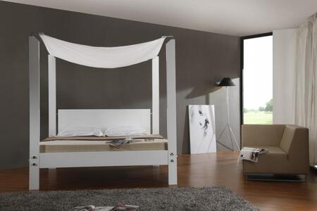 VIG Furniture LIASBEDQ  Queen Size Canopy Bed