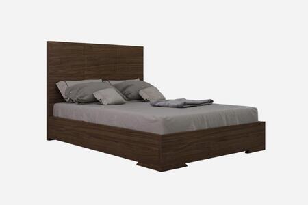 Whiteline Anna full bed walnut PB45BF