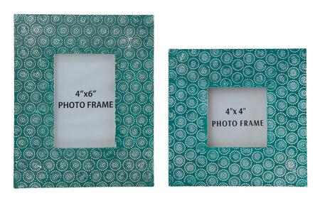 Milo Italia Clarissa F350139TM 2-Piece Photo Frame Set (2 Sets) with Circular Patterns and Made of Metal in