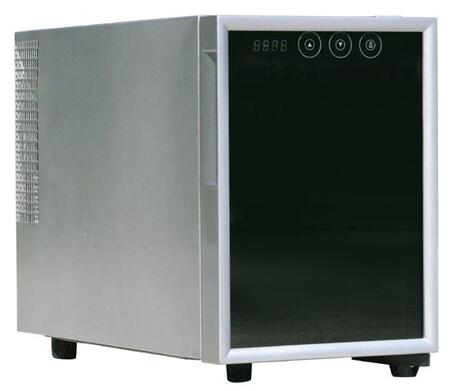 "Sunpentown WC06 10"" Freestanding Wine Cooler, in Stainless Steel"