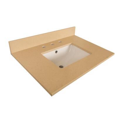 "Bellaterra Home 7616TOP 30"" Quartz Counter Top with Rectanglar Sink"