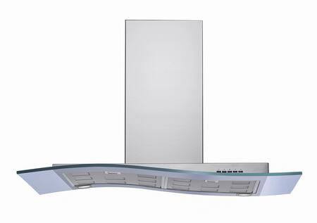 Futuro Futuro WLXMYSTIC Mystic Series Range Hood offer 940 CFM, 4-Speed Electronic Controls, Delayed Shut-Off, Filter Cleaning Reminder, Internal Whisper-Quiet Tangential Blower and in Stainless Steel