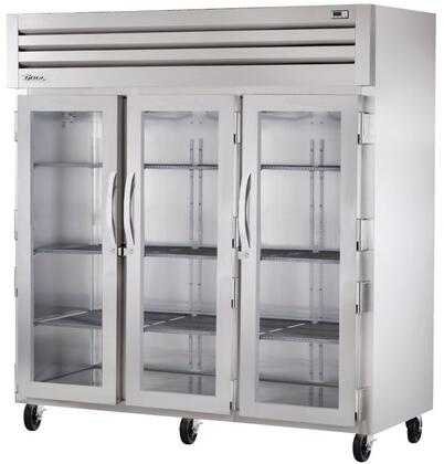 True STA3R-3 Spec Series Three-Section Reach-In Refrigerator with 85 Cu. Ft. Capacity, 134A Refrigerant, LED Lighting and Swing-Doors