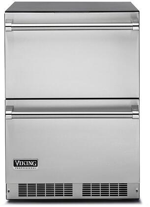 "Viking VDUX5240DSS 24"" Energy Star Rated Professional 5 Series Undercounter Refrigerator Drawers with 5 cu. ft. Capacity, Dynamic Cooling System, Sabbath Mode, Close Door Assist System, and Electronic Digital Controls: Stainless Steel"