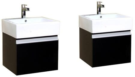 Bellaterra Home 203145X Wall Mount Style Sink Vanity - Wood - Espresso