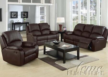 Acme Furniture 50045 Caray Series Sofa Leather Sofa
