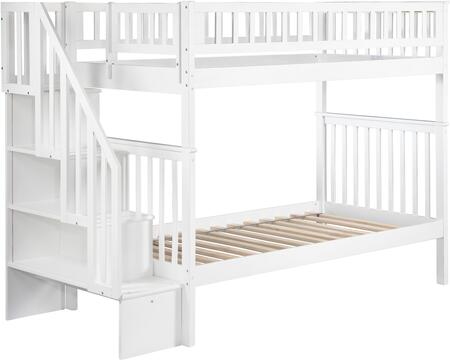 Atlantic Furniture AB56602  Twin Size Bunk Bed