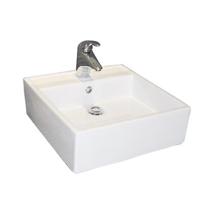 Barclay 4381WH White Above Counter Sink