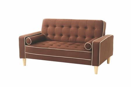Glory Furniture G842L G800 Series Suede Convertible Loveseat