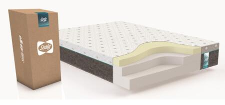 """Sealy Sealy to Go Collection F03-00086 12"""" Thick Memory Foam Mattress with Premium Conventional Foam, Knitted Jacquard Top Cover and Non-Woven Bottom in White"""