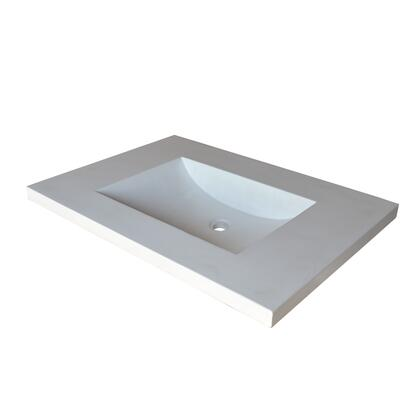 """Native Trails NativeStone Bath Sinks Collection Palomar Vanity Top and Integral Sink Bathroom Sink with 1.5"""" Drain Opening, 8"""" Faucet Holes, Single Bowl, Lightweight Concrete Material and ADA Compliant in Pearl Color"""