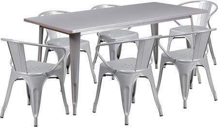 Flash Furniture ETCT005670SILGG Rectangular Shape Patio Sets