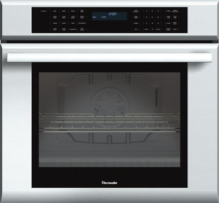 "Thermador ME301J 30"" Star-K Certified Masterpiece Series Single Electric Wall Oven With 4.7 Cu. Ft. Capacity, Self-Cleaning, 1 Telescopic Rack, Sabbath Mode, And Temperature Probe: Stainless Steel"
