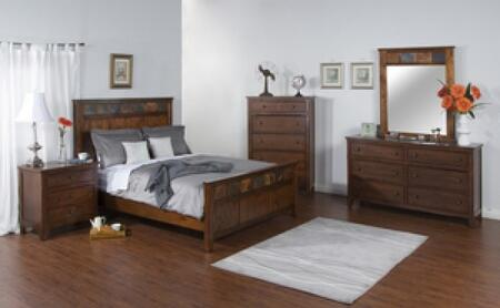 Sunny Designs 2334DCKBDMN Santa Fe King Bedroom Sets