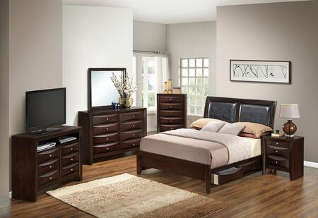 Glory Furniture G1525DDQSB2DMNCHTV2 G1525 Queen Bedroom Sets