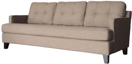 Armen Living LC21513X Eden Sofa with Button-tufting Detail, Soft Chenille Fabric and Tailored with Crisp Piping in