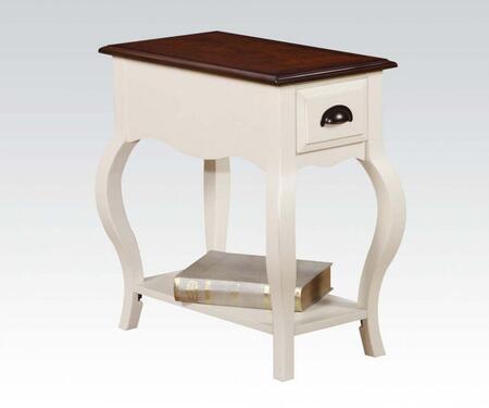 Acme Furniture 80516 Woaton Series Transitional Wood Rectangular 1 Drawers End Table