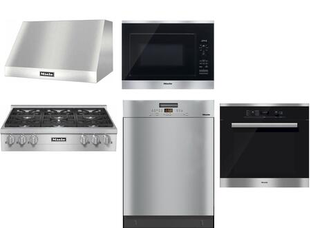 Miele 1048636 6 Piece Stainless Steel Kitchen Liances Package